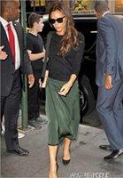 Wholesale Luxury Women Black Long Sleeve Top And Slim Silk Skirt Fashion Set FT047