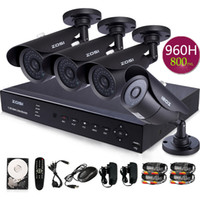 Wholesale ZOSI CCTV system CH HDMI H FULL H P DVR xHD TVL CMOS Night Vision ft outdoor camera security system G
