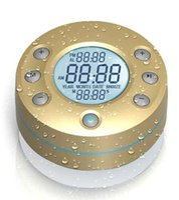 bathroom timers - BTS ipx5 bathroom shower bluetooth splash tunes with timer ipx5 Temperature touch panel new waterproof speaker