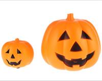 Wholesale 2015 New Halloween props for portable medium Jack O Lantern Halloween Pumpkin portable light Jack O Lantern Christmas