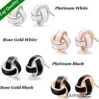 amethyst jewlery - Accessories Brincos Tie Shape Rose Gold Platinum Plated Stud Enamel Earrings for Women Fashion Jewlery Ulove R472