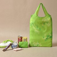 reusable shopping bag - NEW Foldable Reusable Eco Shopping bag pouch storage bag organizer folding Shopping Tote Bag pouch lunch bag purse handbag