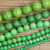 Wholesale mm mm mm mm mm mm Green Round Acrylic Spacer Beads Imitation Turquoise Howlite Beads For Jewelry Making
