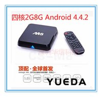 android sub - 1X K Network set top boxes sub M8 Quad core Android tv box Amlogic S802 G G