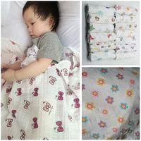 Wholesale Multifunctional Aden Anais Muslin Cotton Newborn Swaddle Big Size Baby Towel bedding Blanket x120cm inch HX