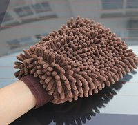 Household Gloves - Creative Microfiber Chenille Car Wash Glove Household Cleaning Cloth Cleaning Tool Supply Home Duster Cleaners stock