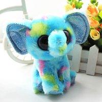 plush elephant - piece Cute Small Plush Elephant Beanie Boos Ellie Soft Dolls Big Eyes Stuffed Animals Toys Kids Gift Car Decoration