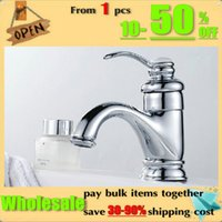 Wholesale Bathroom sink basin mixer tap chrome spray spout brass Faucet BF020