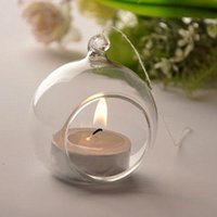 Wholesale 6pcs Glass Hanging Candle Holders For Wedding Decor Glass Candle Holder For Home Decor Candle Holder For Gift