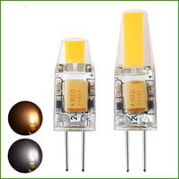 achat en gros de g4 a conduit la lumière cob-Dimmable G4 LED 12V AC / DC COB 3W 6W LED de haute qualité G4 COB Lamp Bulb Chandelier Lampes Remplacer halogène LED