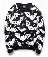 Cheap Alisister Fall winter 2015 new men women's crewneck fashion print Bats FUCK OFF character harajuku sweatshirt pullover tops