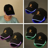 Wholesale New Design LED Light Hat Party Hats Boys and Grils Cap Baseball Caps Fashion Luminous Different Colors Adjustment SIZE free ship