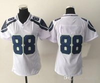 Cheap New Seahawk #88 White Women's American Football Jerseys Authentic Football Uniforms Cheap Sportswear Allow Mix Order