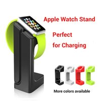 Wholesale 2015 New Arrival Fashion Design Durable Plastic Display and Charging Stand Dock Holder for Apple Smart Watch Black White Red Green