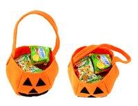 candy handbags - 2014 Halloween Pumpkin Handbag Clothing Accessories Barrels Children Gift Nonwoven Props Hand Bucket Cute Candy HandBag
