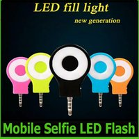 Wholesale LED Flash Light RK07 Built in LED Bubles Lights For Camera Phone Pad Support For Multiple Photography Mini Selfie Autodyne Flash OM CD7