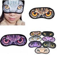 Wholesale New Lovely Animal Cartoon Eye Sleep Masks Travel Aid Comfortable Sleeping Blindfold Rest Cute Eyeshade Random Style