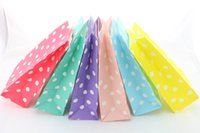 Wholesale 100pcs cm Stand Up Paper Bags Kid s Birthday Wedding Party Supplies Chevron Dot Paper Bags