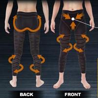 Wholesale Mens Leg Trainer Hot Body Shapers Slimming Pants Screw Massage Man Abdomen Fat Burning Butt Lifting Thin Leggings Body Binder d958