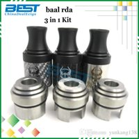carbon steel ring - Vaporizer RDA Baal Carbon Fiber Kit mm Stainless Steel Rebuildable Dripping Atomizer Wide Bore Drip Tip With Extral Rings vs N23 Doge