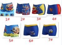 Cheap 10pcs 2015 new Summer kids Boys' Swimwear Trunks Cartoon Spiderman Superman Shorts Pants Children Beach Swimsuits Fit 7-11T 7 Styles D087