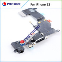 for iphone 5S audio connectors - Dock Connector Charging Port Flex Cable for iPhone S Headphone Flex audio black and white With