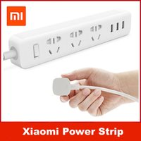 Wholesale Original Xiaomi Power Strip Outlet Socket USB Extension Socket Plug with Socket AU Standard Socket material PC W USB OUT