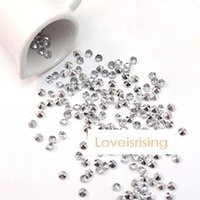 Wholesale 30 Off mm Carat Clear With Silver Plated Diamond Confetti Acrylic Bead Wedding Party Decor