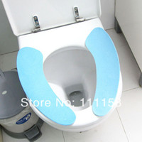 bathroom commodes - 200 DHL Quality Hygienic Comfortable Stick on Toilet Mat Reusable Bathroom Toilet Mat Commode Cover Pads