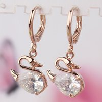 aquamarine clip earrings - 2014 Fashion Women Hottest New k Gold Filled Gift Party Aquamarine Austrian Crystal Hoop Earrings Jewelry