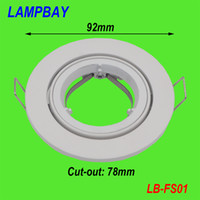 Wholesale pieces spotlight fittings silver white GU10 MR16 downlight metal fixtures