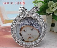 abs resin price - Low price ABS resin ROUND silver plated photo frame picture frame home decoration gift craft