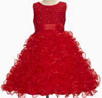 Wholesale Girls party dresses for teenagers summer children kids wear flower elegant princess girl dress wedding birthday girls dresses