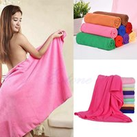 towel wrap - Large Absorbent Microfiber Fleece Bath Towel Shower Spa Body Wrap x140cm Absorbent Bath Towel Beach Quick Dry Washcloth