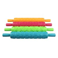 Wholesale 4 Colors Fondant Ribbon Stripe Bow Cutter Roller Pin Embosser Becorating Cake Paste Dough Plastic Compact DIY Cooking Tool Set