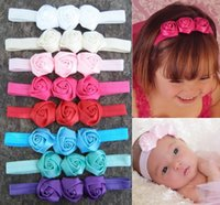american combine - The new European and American children hair accessories Manual takes three roses combined with baby headband