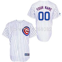 Wholesale 30 Teams Youth custom Chicago Cubs Personalized Team Color Blue White Stripe Gray Home Road Kids Customized Baseball jerseys