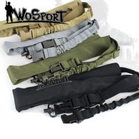 Wholesale Tactical CS Single Point Sling Adjustable Bungee Rifle Gun Sling Strap System with QD push button Black Green Grey Sand