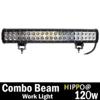 Wholesale HIPPO Dual Row High Power w Cree Xb d SMD LED Work Light Bar Lumens Off road wd x4 Utv Sand Rail Atv Suv Motorbike
