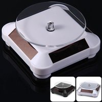Wholesale 10pcs Rotating Solar Powered Cell Phone Watch Jewelry Turntable Turn Table Plate Display Stand