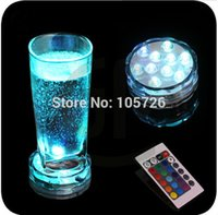 Wholesale 4 set one waterproof led wireless remote control for vase floral decoration multiple color changing submersible light
