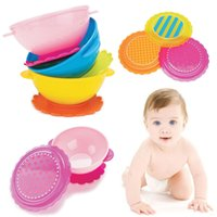Wholesale Children Dishes New Baby Kids Children Suction Cup Bowl Dish Slip resistant Tableware Set Sucker Bowl Brand New