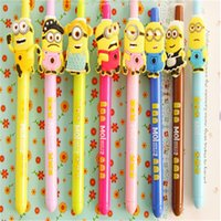 Wholesale 14cm long mm Minions gel pen creative black gel ink pen office or school stationery supply