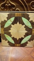 Wholesale marble square flooring green marble black walnut wooden floor Wood flooring Parquet flooring Medallion wooden hardwood flooring