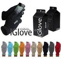 Wholesale Christmas IGlove Screen Touch Gloves i gloves Man Women Capacitive Gloves With Retail Box Unisex Winter for Iphone Plus Phone Touch Gloves
