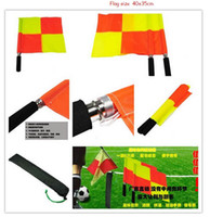 Wholesale 2 in Football pennant flag with bag The referee s soccer flag football assistant referee flag