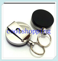 Wholesale DHL Freeshipping High quality retractable key ring high resilience rope chain anti lost keychains