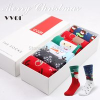 best thermal socks - Ensure Best quality double gift box set elk thermal personalized birthday gift women s cotton christmas socks Free shop