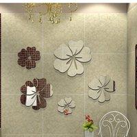 sofa set - DIY D Acrylic Wall Sticke Set Home Movement Decoration Crystal Mirror Flower Sofa Bedroom Adesivo De Parede dandys