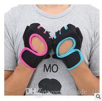 Wholesale Brand Sports Gloves Fitness Exercise Training Gloves Fingerless Crossfit Unisex Guantes Luva Weightlifting Antiskid Gloves LJJC1579